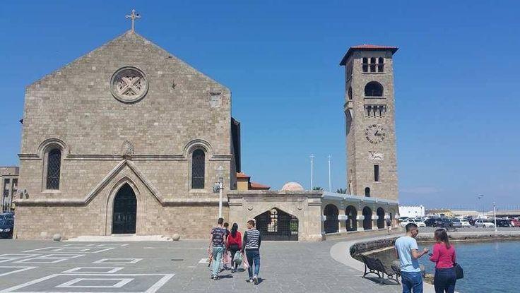 The Greek Orthodox Church - Evangelismos. Rhodes Greece  https://theislandofrhodes.com/rhodes-town-in-greece