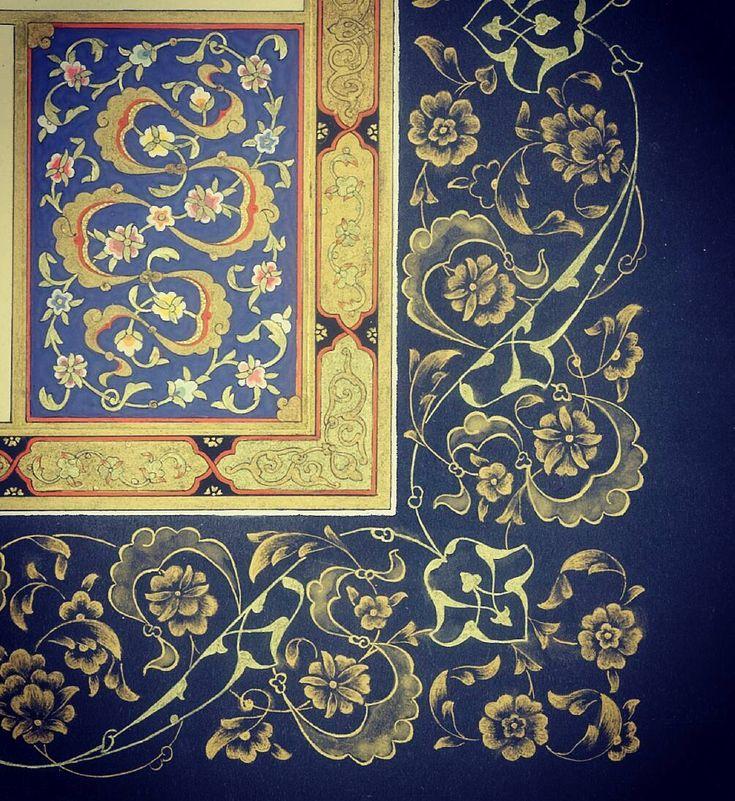 Kıta tezhibi ayrıntı. Funda ARI KARAKAŞ . #tezhip #tezhipsanatı #gelenekselturksanatlari #turkishart #art #tazhib #traditional #arts #halkar #turkishart #art #gelenekselsanatlar #zahriye#klasiksanatlar#zahriye#calligraphy#tezhip#خط#illumination#su#proje#levha#sanat#desen#tasarim#gelenekselsanatlar#istanbulcity#turkiye#instagram_turkey#instaart#instaartwork#instadesing#indesign#türkiye#istanbul
