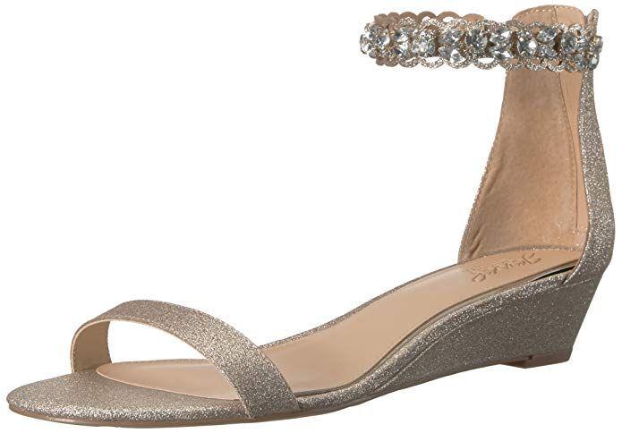 7bd089542981 Badgley Mischka Jewel Women s Ginger Wedge Sandal