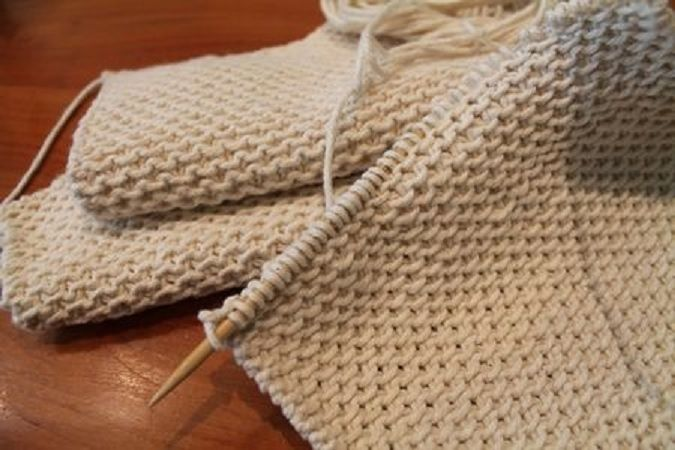 Knit Chinese Waves Dishcloth | Thick and Nubbly | Free Pattern