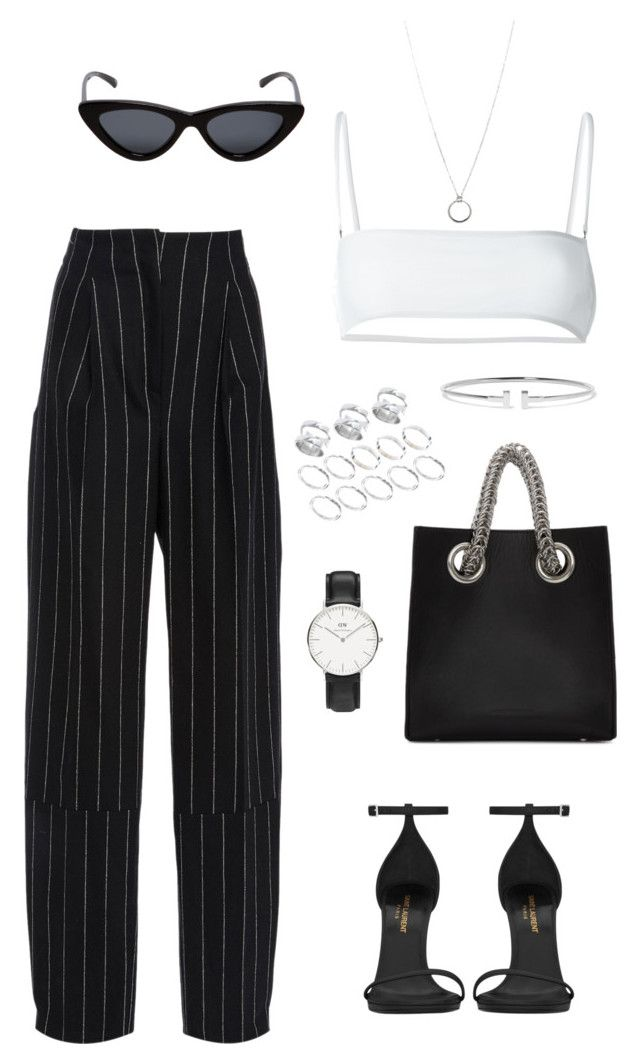 """Untitled #190"" by carolina11297 ❤ liked on Polyvore featuring Maiyet, Ack, Yves Saint Laurent, Alexander Wang, Le Specs, Daniel Wellington, FOSSIL, Tiffany & Co. and ASOS"