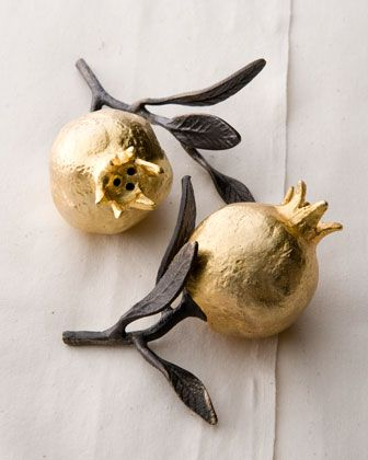 Pomegranate Salt & Pepper Shakers by Michael Aram at Horchow.