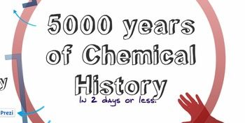9-12 Chemistry - Prezi's are like more-than-awesome PPT presentations!  This Prezi covers 5000 years of the History of Chemistry.  It can take 1-3 days in the classroom, depending on how you spread it out.