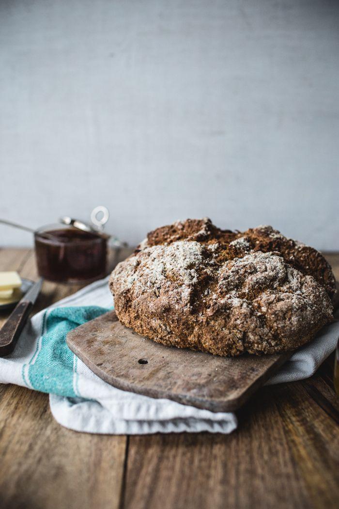 Cranberry-Pecan-Rye Soda Bread - Top With Cinnamon