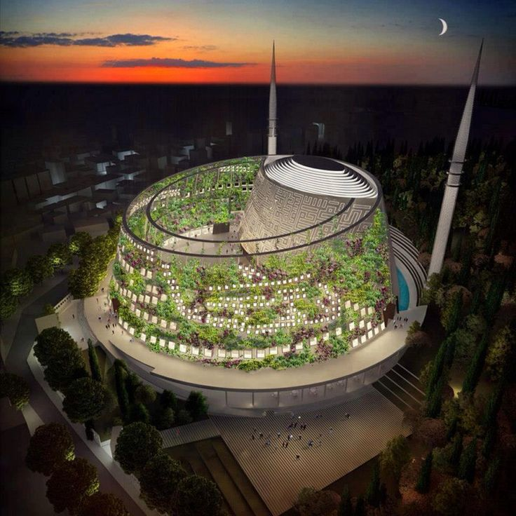 Futuristic mosque