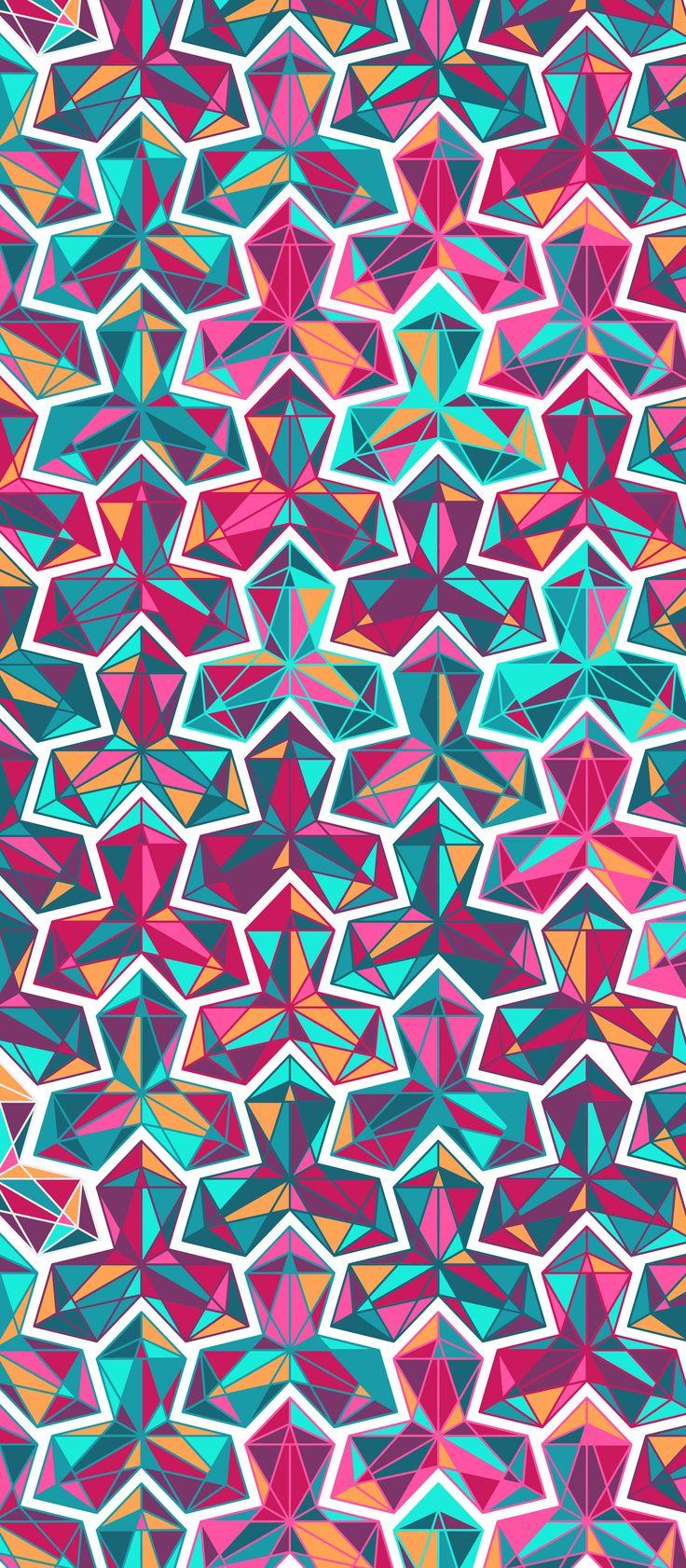 Russfussuk 'Lucid' M10A #pattern #patterndesign #surfacepattern #patternprint #crystal #rainbow #jewel #generative #geometria #padrões #russfussuk