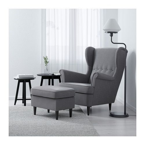 STRANDMON Wing chair IKEA You can really loosen up and relax in comfort because the high back on this chair provides extra support for your neck.