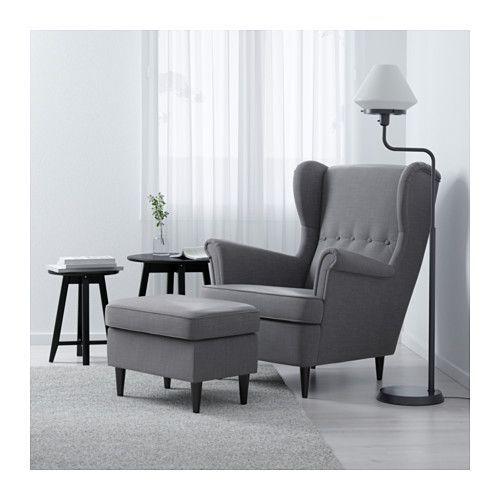 STRANDMON ウイングチェア - ノールドヴァッラ ダークグレー - IKEA