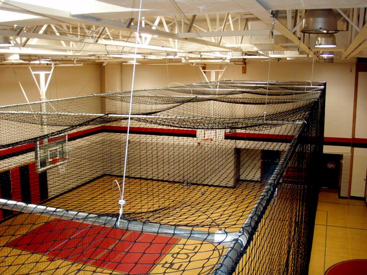Electric Retractable Batting Cages Work Great For Multi Use Indoor Sports  Facilities U0026 Gyms, Allowing The Cage To Raise To The Ceiling Within Minutes  Via An ...