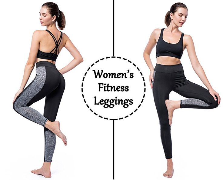 CFR Women Workout Gym Yoga Sports Clothes Tight Pants Leggings Fitness Stretch Black&Gray S-3XL USPS Post (Small, Grey & Black): Amazon.ca: Clothing & Accessories