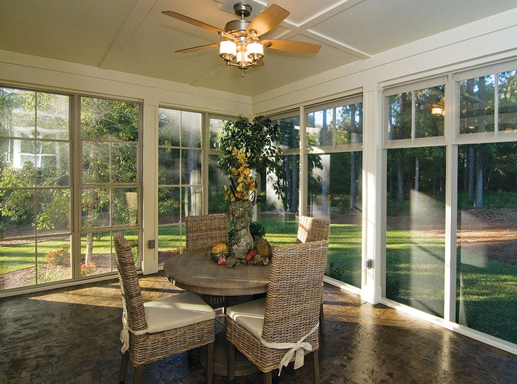 Screened Porch/Sunroom From The Marley Plan 1285 Www.dongardner.com   The
