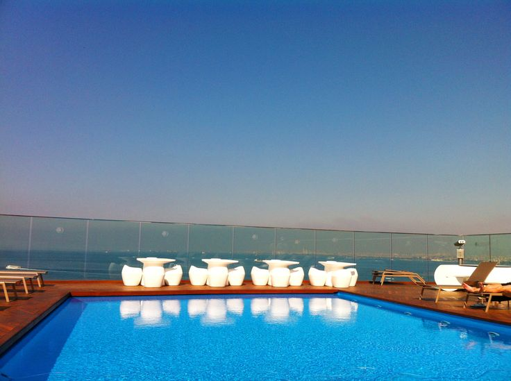 Pool situation overlooking Sea of Marmara, Istanbul