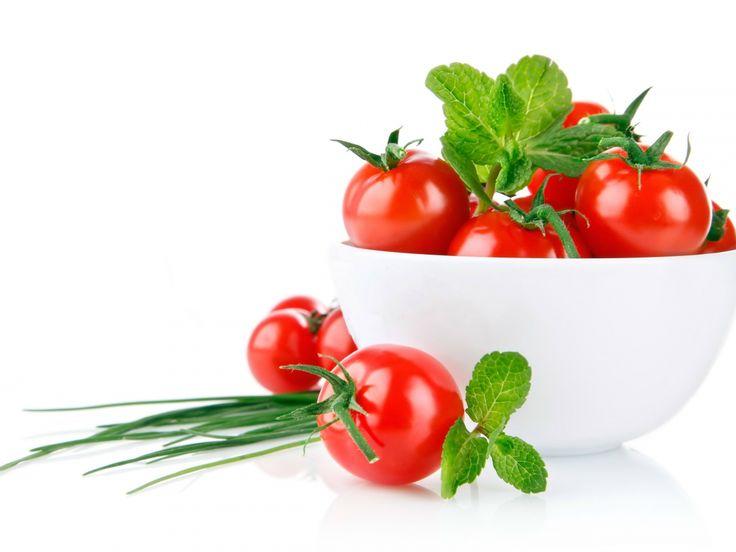 imagens brancas, papéis de parede de tomate, tigela vetor, fundos verdes