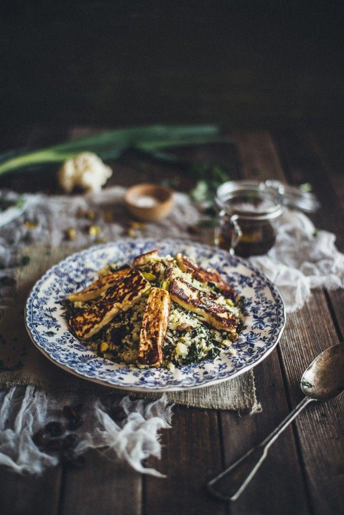 cauliflower and halloumi salad recipe