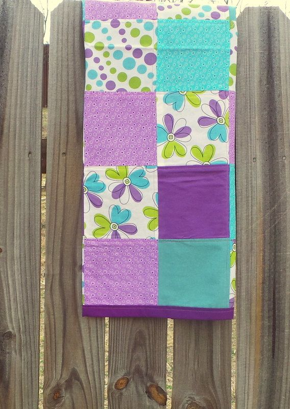 Aqua and Purple Baby QuiltAqua and Purple by TakeTwoBabyQuilts, $34.99