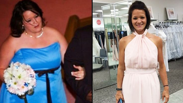 After seeing an unflattering video of herself, Amber Anderson realized she was overweight. In a year, she lost half her body weight.