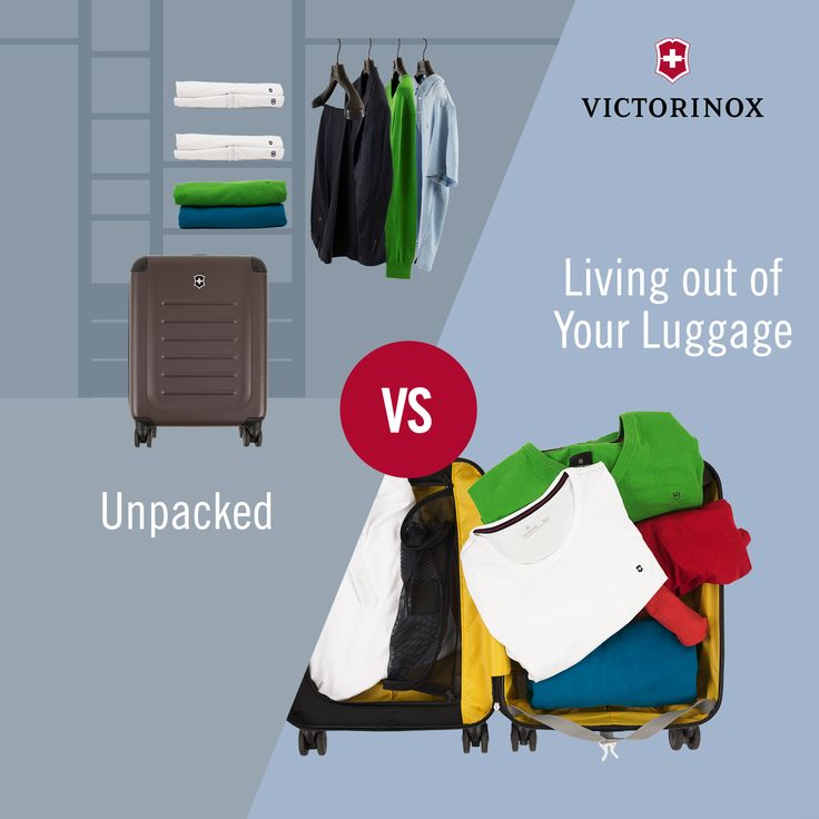 Unpacked vs. Living out of your luggage: Do you unpack your clothes or live out of your suitcase? #WhatTypeAreYou #TravelGear