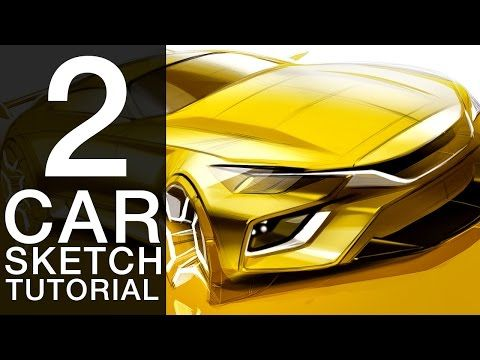 How to Draw a Concept Car | Car Drawing and Sketching Tutorial - YouTube