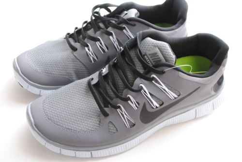 Men's Nike Free 5 0 Running Shoes Gray and Black