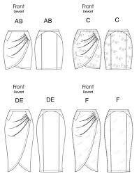 Картинки по запросу юбка с запахом выкройка