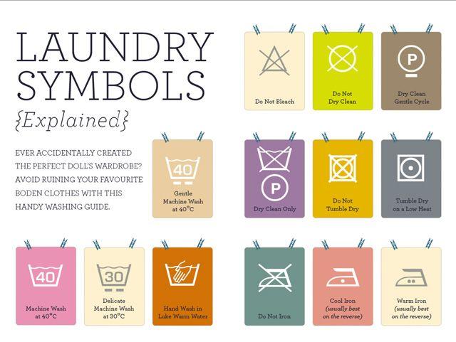 & laundry symbols.