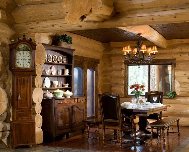 17 best images about beautiful log cabin dining rooms on Log cabin chandelier
