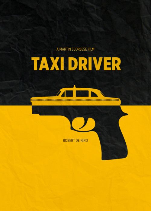 minimal movie posters // taxi driver
