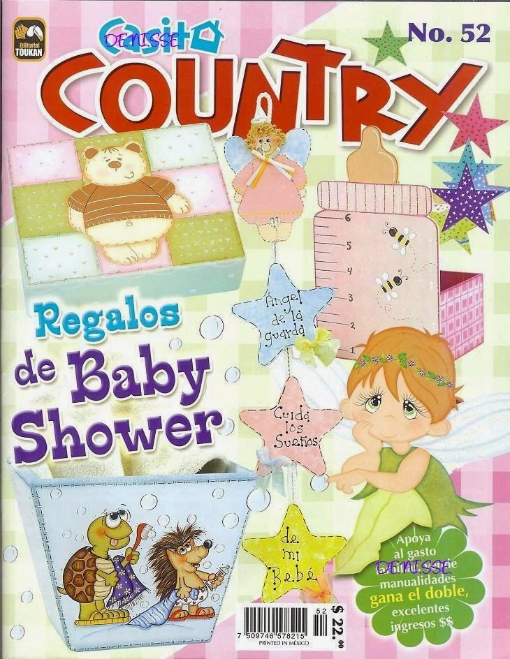 Revistas de manualidades gratis: Revista casita country baby shower gratis