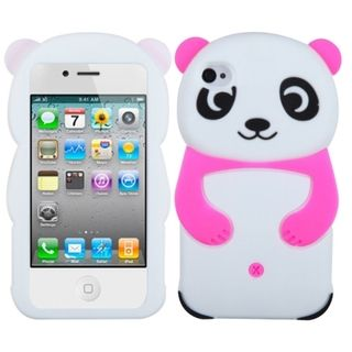 BasAcc Hot Pink Panda Silicone Skin Case for Apple iPhone 4/ 4S
