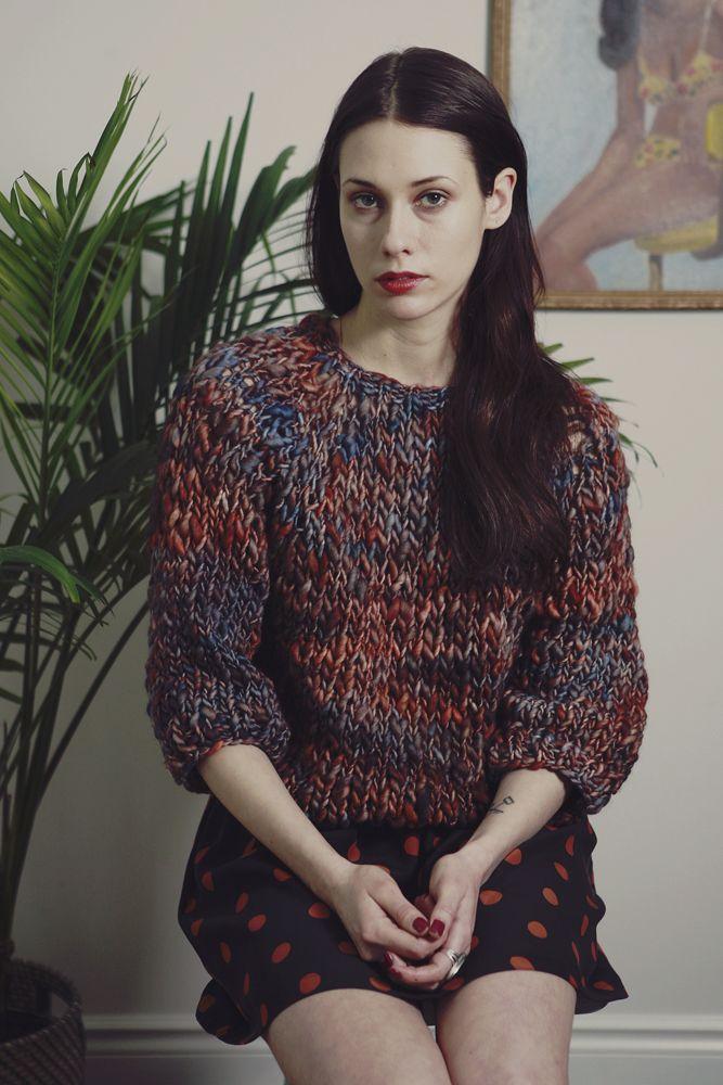Kingston sweater w/ optional fringe+ hand knit raglan seamless sweater, w/ a distinctive modern fit, soft