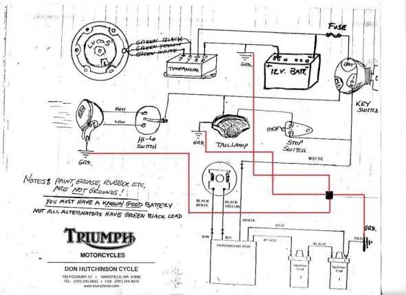 Triumph 650 Wiring Diagram Triumph 650 Triumph Motorcycle Wiring