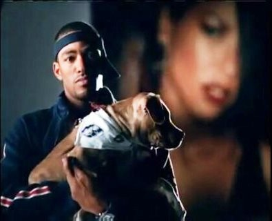 "Yes. He Was In The Aaliyah ""I Miss You"" Video With His Handsome Pitbull. Laz Alonso."