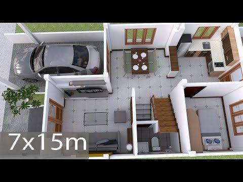 Home Design Plan 17x13m With 4 Bedroom House Idea In 2020 Home Design Plan House Layout Plans Small House Design Plans