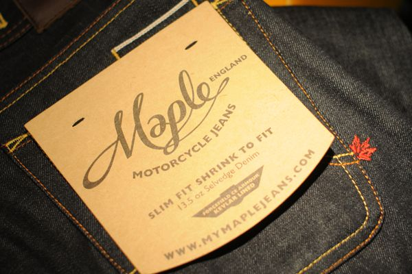Back Pocket Flasher - Maple Motorcycle Jeans