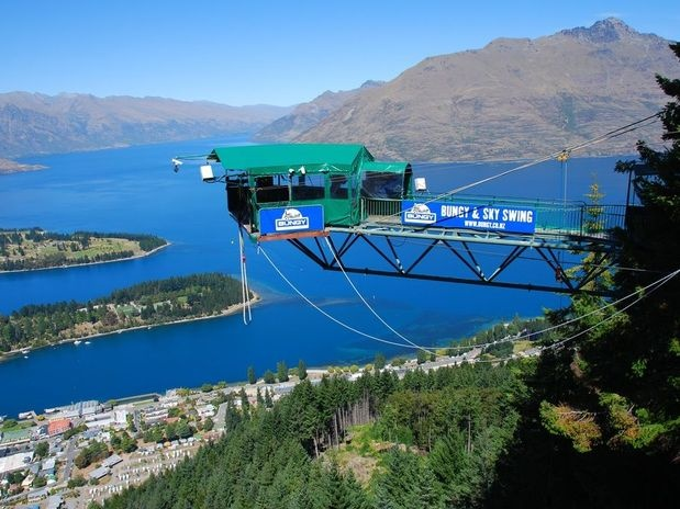 Great place to bungee-jumping. Queenstown, New Zealand.