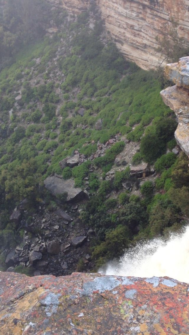 View looking down from the top of the waterfall at Nieuwoudtville (15/8/13).
