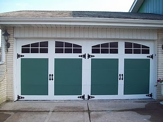 My faux carriage garage doors. Cost? $65 bucks!
