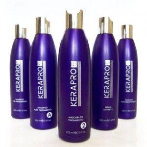 Kit Kerapro k5 Tratamiento de Alisado 5x225ml. Es un tratamiento reductor de volumen y alisado capilar que consigue unos resultados con más hidratación y un cabello más nutrido.   Kerapro no contiene formol ni aldehidos por lo que es un tratamiento natural para el pelo, saludable y eficaz.