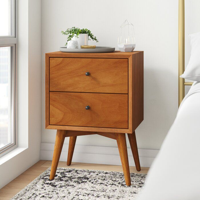 Williams 2 Drawer Nightstand Reviews Allmodern In 2020 2 Drawer Nightstand Furniture Modern Furniture Living Room