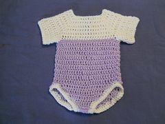 Ravelry: Roo's Cute Onesie pattern by Ann Holden