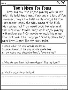Fluency Passages & Phrases {Long Vowels, Vowel Teams, 2nd ...