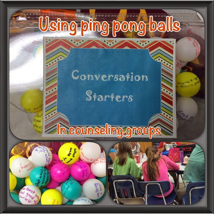 Ping Pong Balls as Icebreakers