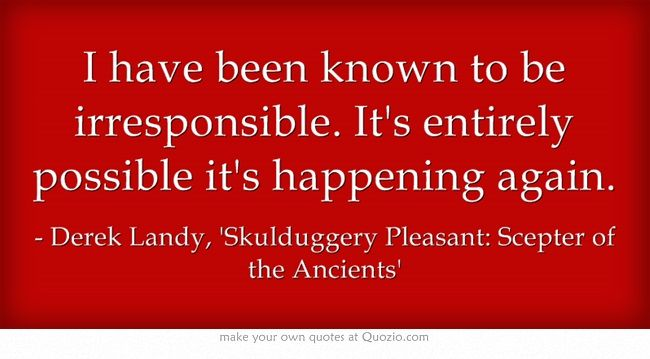 Skulduggery pleasant quote