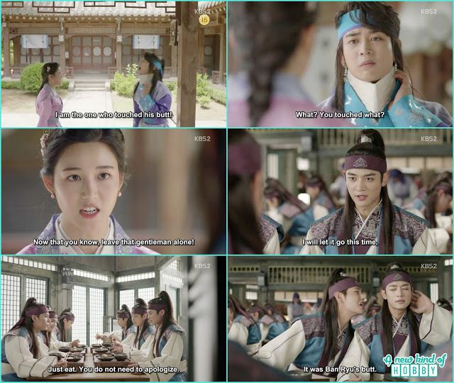soo yeon finally tole the whole story what happened in the twon market and ask so hoo to leave ban ryu alone - Hwarang: Episode 10