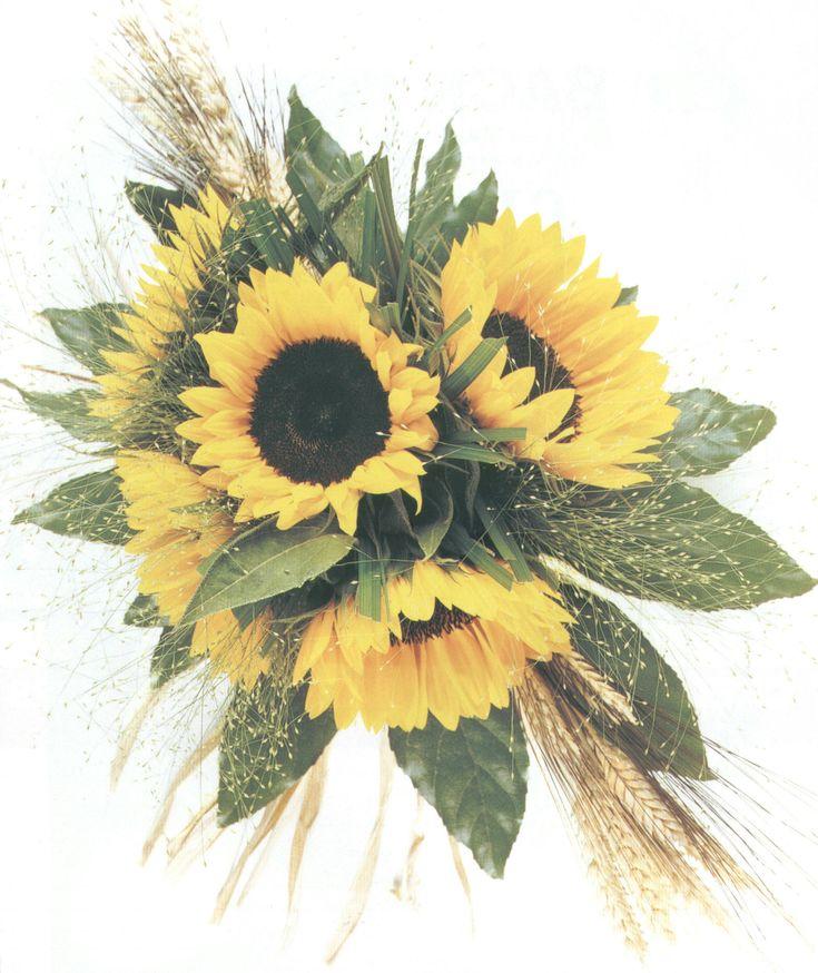 Sunflower Wedding Bouquets Sunflower Wedding Bouquets