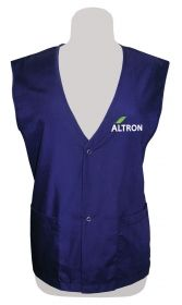 Promotional Products Ideas That Work: Poplin Vest, Snap Closure. Made in Canada. Get yours at www.luscangroup.com