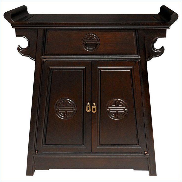 Oriental Furniture Altar Cabinet In Rosewood Transitional Console Table