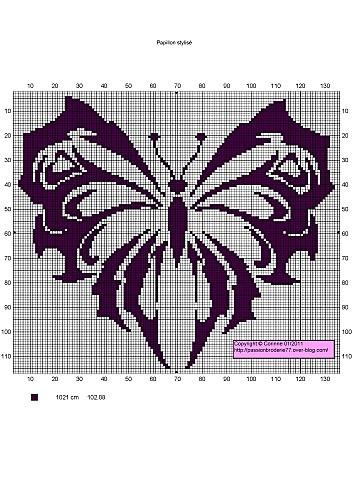 Papillon stylisé