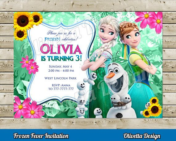 Frozen Fever Invitation for Birthday Party - Digital File