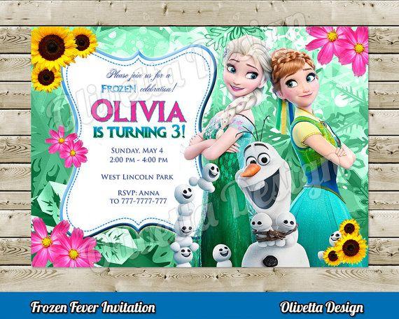 Frozen Fever Invitation for Birthday Party - Digital File